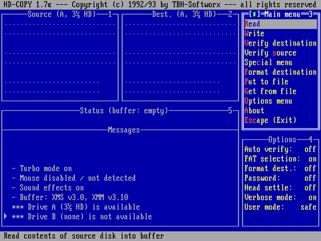 软盘复制工具 HD-COPY